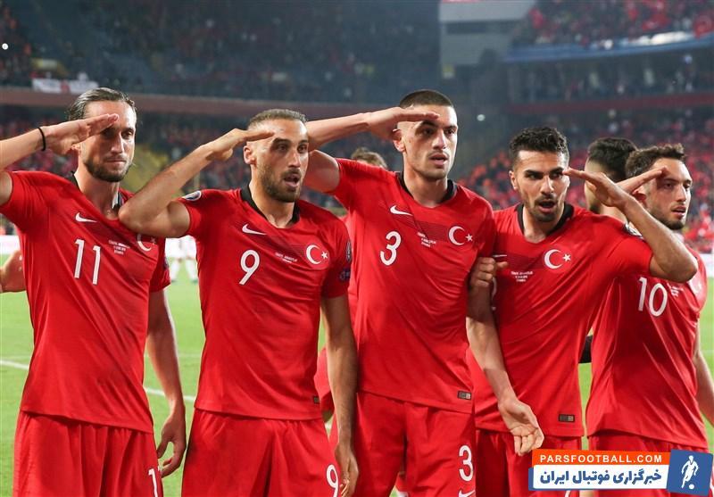 پیامد های سلام نظامی بازیکنان ترکیه بعد از گلزنی برابر آلبانی