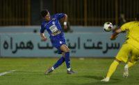 تصویری از سجاد آقایی در پیراهن تیم فوتبال پرسپولیس