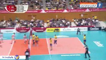 خلاصه بازی والیبال ایران 1-3 برزیل جام جهانی والیبال ژاپن 2019