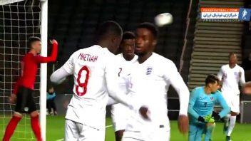 انکتیا ؛ عملکرد ادی انکتیا بازیکن تیم ملی انگلیس زیر 21 سال برابر اتریش