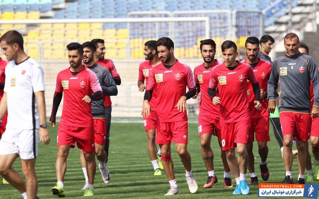 عکس ؛آماده سازی ورزشگاه شهید کاظمی برای ورود پرسپولیسیها