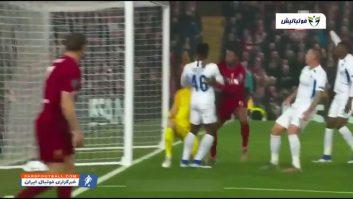 خلاصه بازی لیورپول 2-1 خنک لیگ قهرمانان اروپا 2019/2020