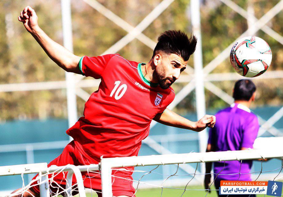 علی شجاعی مهاجم تیم فوتبال امید