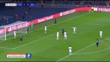 خلاصه بازی پاری سن ژرمن 1-0 کلوب بروژ لیگ قهرمانان اروپا 2019/2020