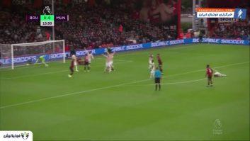 خلاصه بازی برونموث 1-0 منچستریونایتد لیگ برتر انگلیس فصل 2019/2020