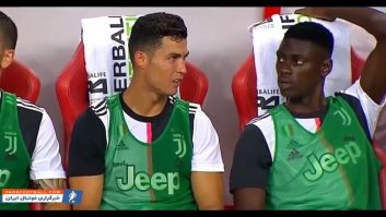 واکنش های کریستیانو رونالدو بعد از تعویض شدنش در بازی ها
