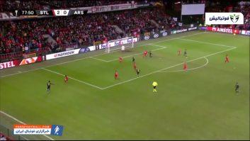 آرسنال ؛ خلاصه بازی استاندارد لیژ 2-2 آرسنال لیگ اروپا 2019/2020