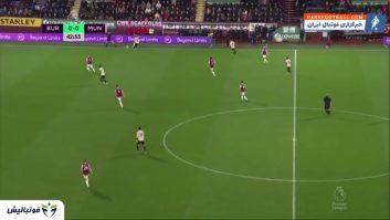 منچستریونایتد ؛ خلاصه بازی برنلی 0-2 منچستریونایتد لیگ برتر انگلیس