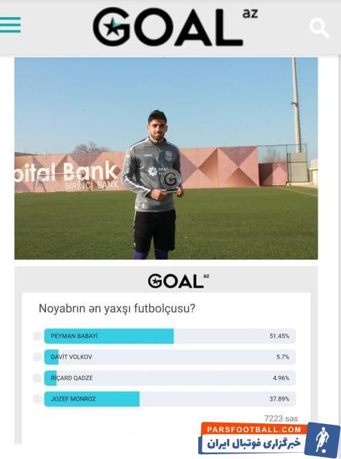 پیمان بابایی که این روزها به عنوان یکی از بهترین گلزنان آذربایجان کارش را در فوتبال این کشور دنبال می کند پیمان بابایی شب گذشته تولد 25 سالگی را جشن گرفت.