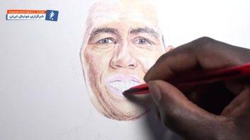طراحی چهره فوق العاده از روبرتو فیرمینو بازیکن لیورپول