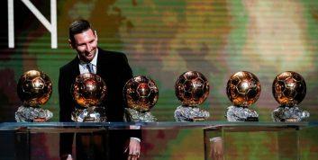 مسی ؛ فهرستی از 10 بازیکن برتر دارنده توپ طلا در فوتبال جها
