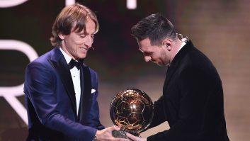 لوکا مودریچ برنده توپطلای سال ۲۰۱۸، جایزه لیونل مسی را به او اهدا کرد مودریچ به ستاره آرژانتینی بارسا گفت که لیاقت آن را داشته.