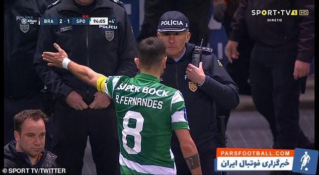 برونو فرناندس به نظر میرسد به زودی راهی یونایتد خواهد شد در بازیای که میتواند آخرین بازی برونو فرناندس باشد با عصبانیت زمین را ترک کرد .