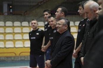 والیبال ؛ حضور داورزنی در تمرین تیم ملی مردان و زنان والیبال