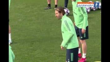 رئال مادرید ؛ تمرین رئال مادرید پیش از دیدار برابر منچسترسیتی لیگ قهرمانان اروپا