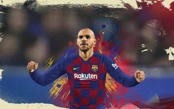 بارسلونا ؛ تیم منتخب چهار نفره مارتین بریتویت مهاجم بارسلونا