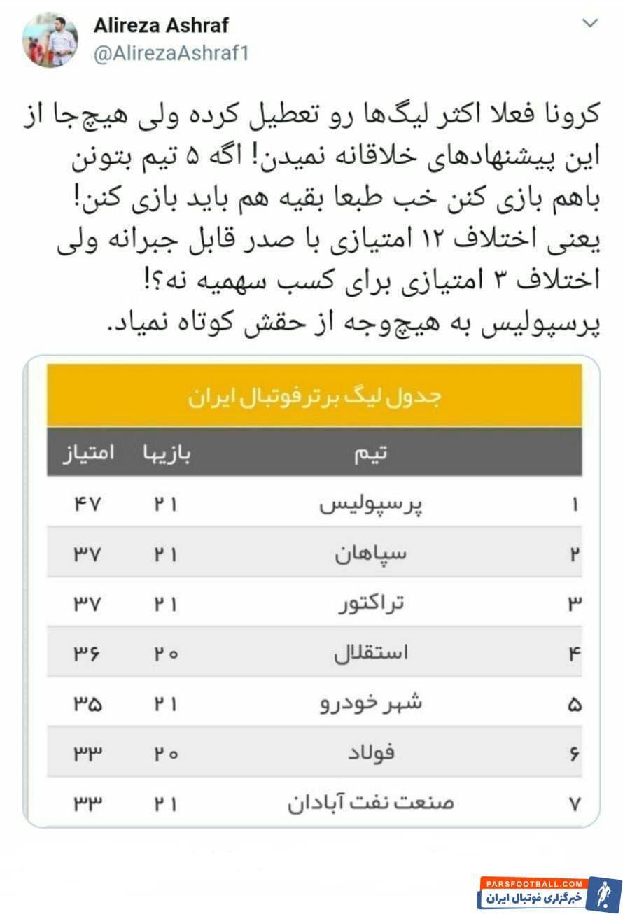 واکنش مدیررسانهای پرسپولیس به پیشنهاد فتحاللهزاده برای تعیین قهرمان لیگ