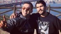 امیر عابدزاده ؛ به انتشار عکس های خود همراه با پدرش احمدرضا عابدزاده در تیم پرسپولیس پرداخت