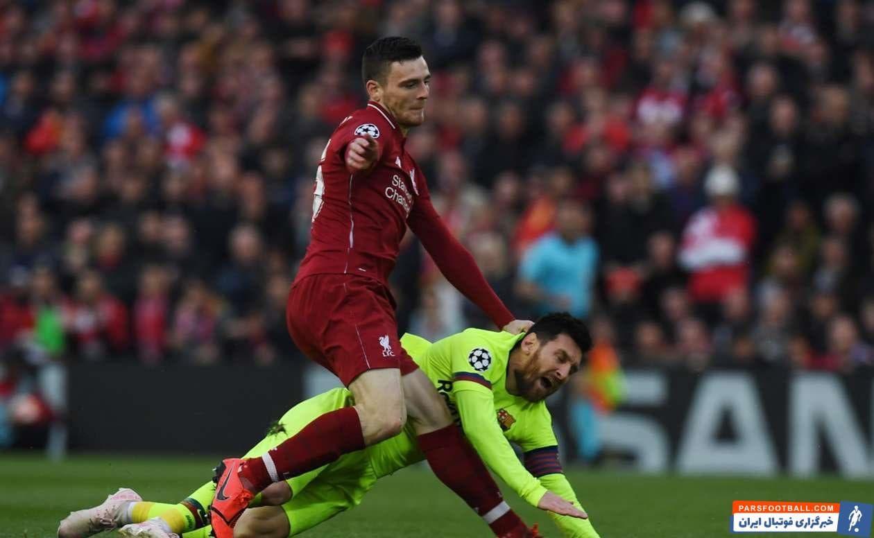 در یک صحنه اندی رابرتسون موهای مسی را کشید و موجب عصبانیت کاپیتان بارسلونا شد او از رخ دادن آن اتفاق ابراز پشیمانی کرده و مدعی شد او چنین شخصیتی ندارد.