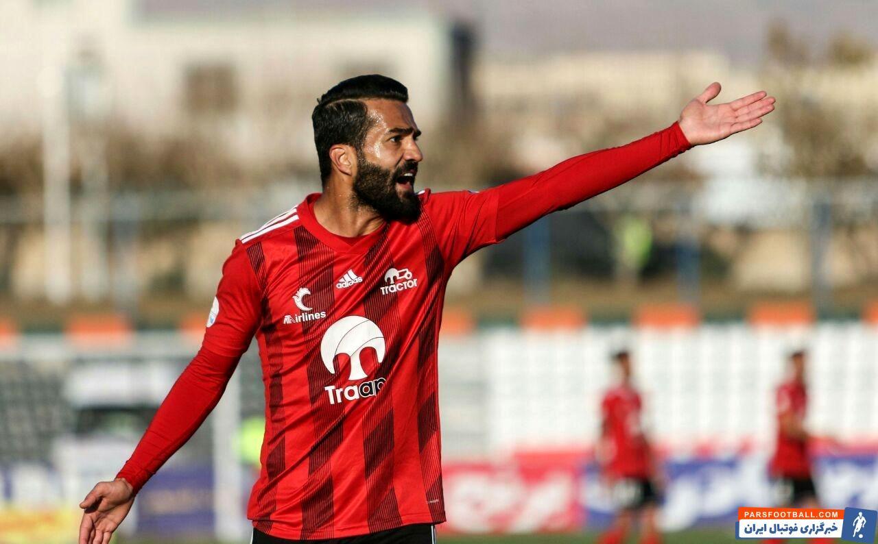 مسعود شجاعی در حین تمرین شیشه آمبولانس را در ورزشگاه آزادی شکست