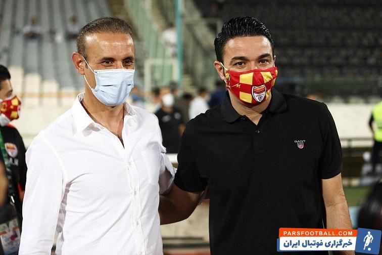 برخورد گرم نکونام و گلمحمدی قبل از بازی/عکس