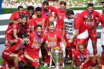 بایرن مونیخ در این فصل موفق شد تمام جام های ممکن را بدست آورد.