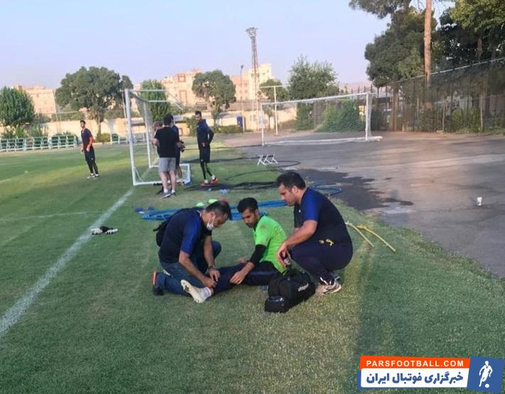 محسن فروزان دروازه بان پارس جنوبی جم در آخرین تمرین این تیم در کمپ بانک ملی و قبل از سفر به تبریز از ناحیه مچ پا دچار مصدومیت شد.