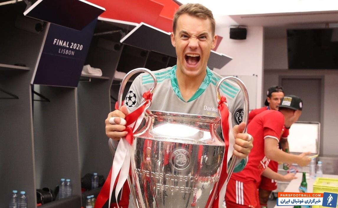 مانوئل نویر موفق شد بهعنوان کاپیتان هم قهرمان لیگ قهرمانان اروپا شود، افتخاری که بعد از ۷ سال دوباره همراه بایرنمونیخ به آن رسید.