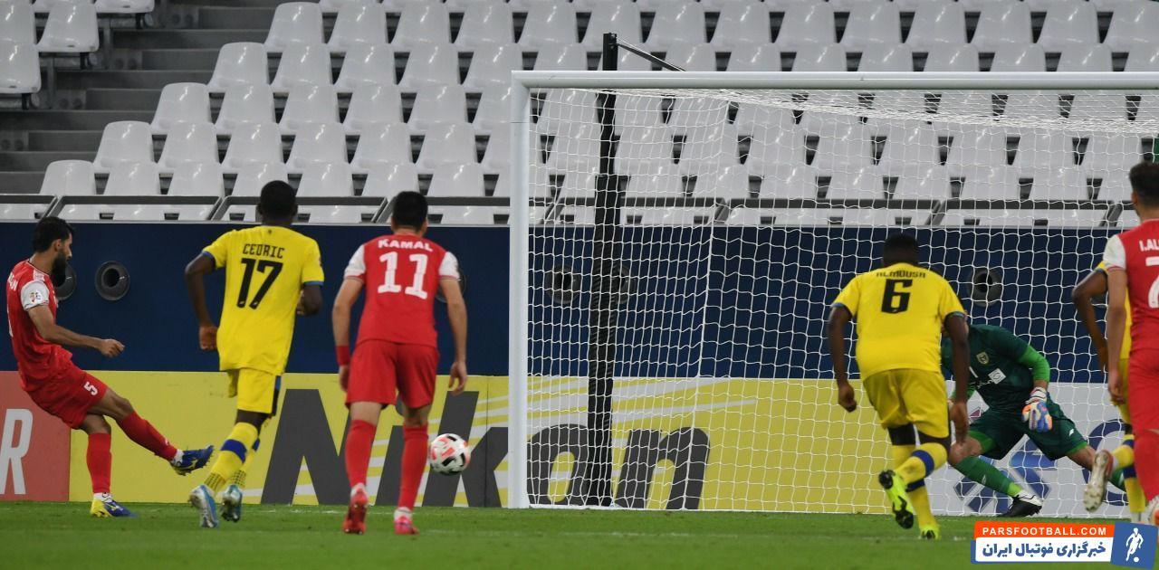 بشار رسن با آرامش و مهارتی که همیشه از خود نشان داده، توپ را به آرامی روانه دروازه کاسیو کرد و گل سه امتیازی را به ثمر رساند.
