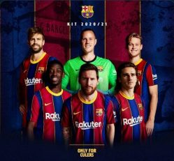 تبلیغ فروش پیراهن فصل ۲۰۲۱-۲۰۲۰ بارسلونا با حضور لیونل مسی باعث شده هواداران این تیم به ماندن کاپیتان امیدوار شوند.