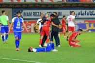 بازیکنان شکست خورده استقلال مقابل تراکتور در دیدار پایانی جام حذفی