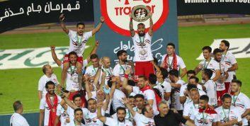 شادی هواداران تراکتور بعد از قهرمانی در جام حذفی