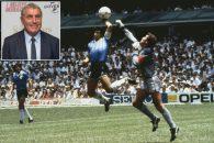مارادونا و گل معروف به دست خدا در جام جهانی 1986
