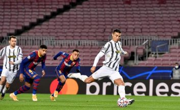 یوونتوس و بارسلونا با گلزنی رونالدو