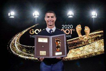 کریستیانو رونالدو که سه هفته پیش برنده جایزه پای طلایی شده بود، امروز جایزه خود را دریافت کرد. این جایزه به بازیکنان بالای 30 سال اهدا می شود.