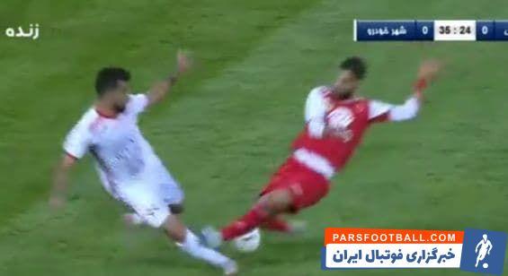 امیرحسین کریمی بازیکن تیم فوتبال شهرخودرو گفت: در یک صحنه دیگر سرلک پای من را زد و واقعا اگر پایم را ببینید کبود شده است.
