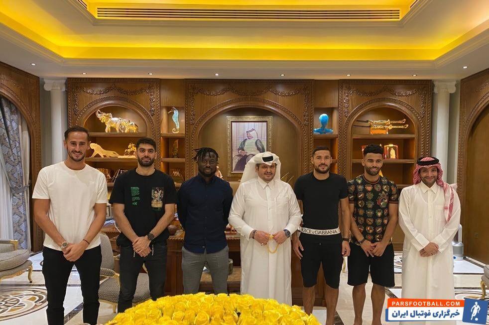 دیدار علی کریمی با رئیس باشگاه قطری