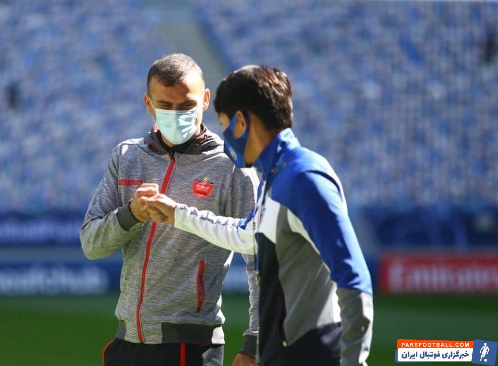 افتخار بزرگ سید جلال حسینی کاپیتان پرسپولیس در بازی فینال لیگ قهرمانان آسیا