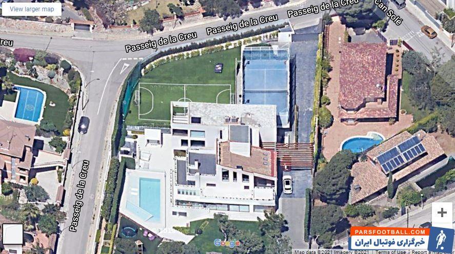 فوتبال مقایسه خانه ویلای مسی، رونالدو و نیمار