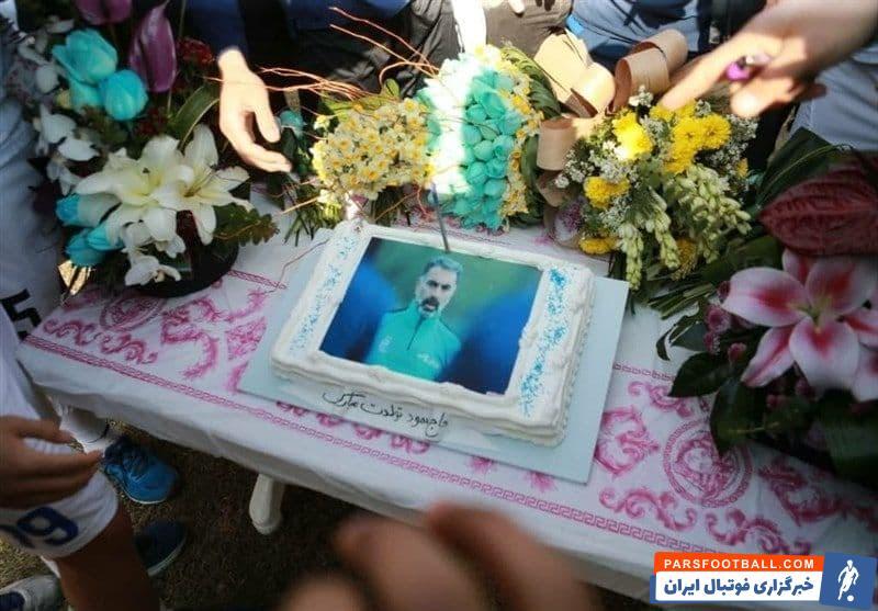 کیک تولد محمود فکری در تمین استقلال