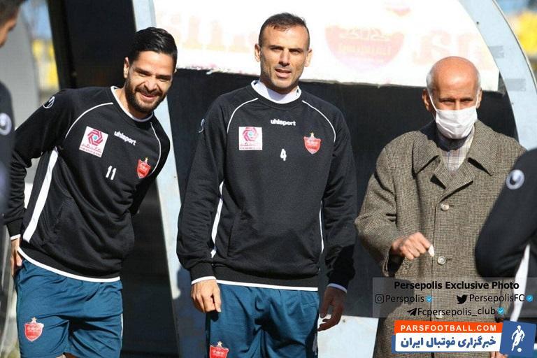 اولین کاپیتان پرسپولیس در کنار سید جلال حسینی