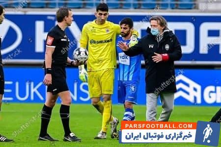 محمدی و بیرانوند که در تیم ملی همبازی هم بودهاند، دیروز و پس از پایان دیدار خنت و رویال آنتورپ، به سمت یکدیگر رفتند و دست در گردن یکدیگر
