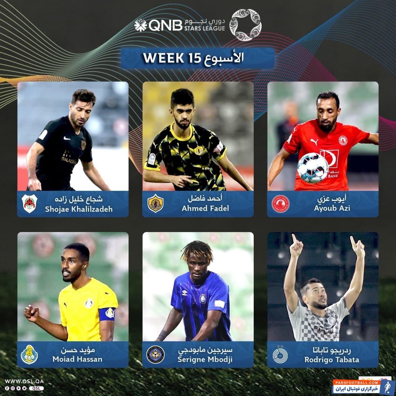 شجاع خلیل زاده کاندید بهترین بازیکن هفته 15 لیگ ستارگان قطر