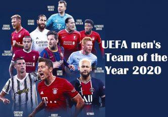 تیم منتخب یوفا در سال 2020 با حضور رونالدو و مسی