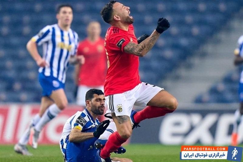 مهدی طارمی مهاجم ایرانی تیم فوتبال پورتو به دلیل کارت قرمزی که در بازی با بنفیکا گرفت، در بازی حساس با اسپورتینک لیسبون غایب خواهد بود.