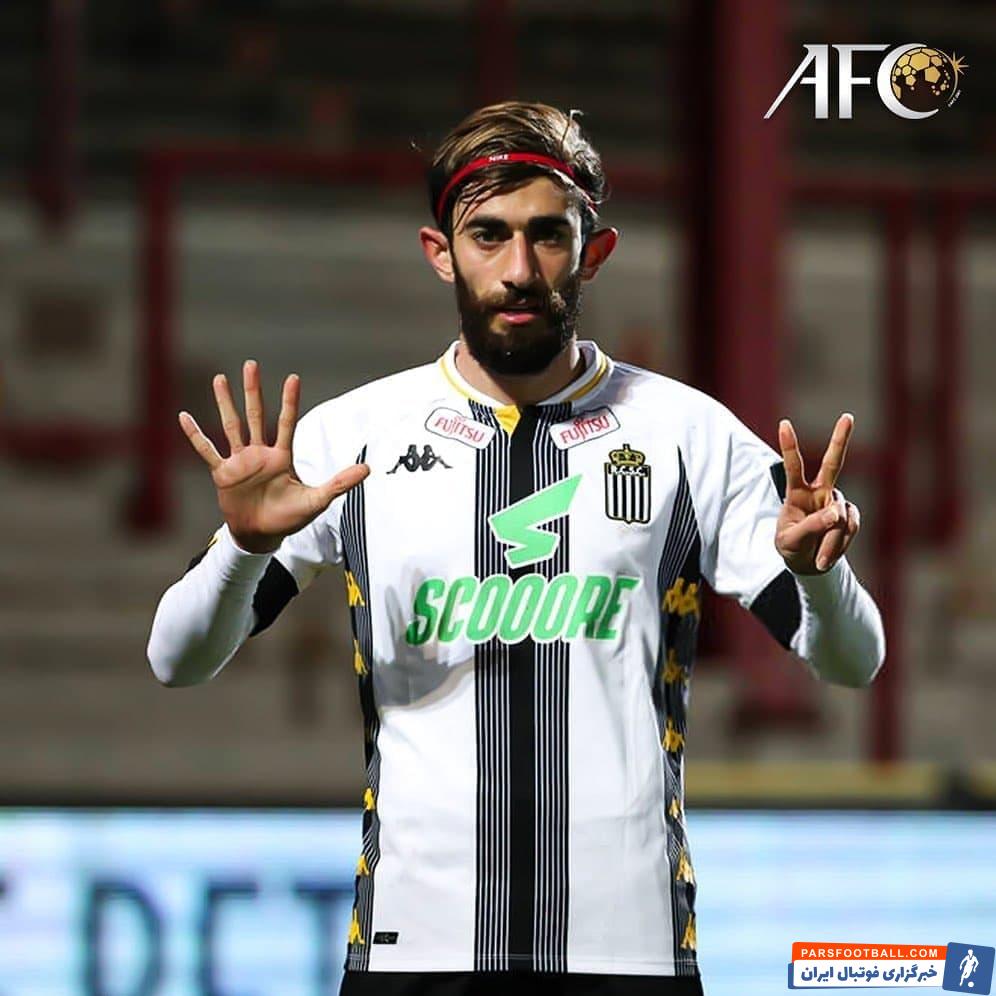 علی قلی زاده هافبک ایرانی شارلوا بعد از گلزنی مقابل کورتریک در لیگ بلژیک گلش را به روح زنده یاد مهرداد میناوند تقدیم کرد.