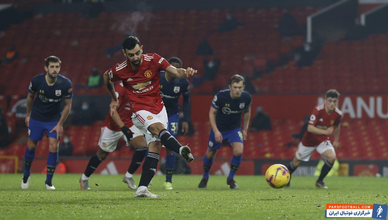 در هفته بیست و دوم لیگ برتر انگلیس تیم منچستر یونایتد با درخشش برونو فرناندز با نتیجه عجیب و غریب نه بر صفر تیم ساوتهمپتون را شکست داد .