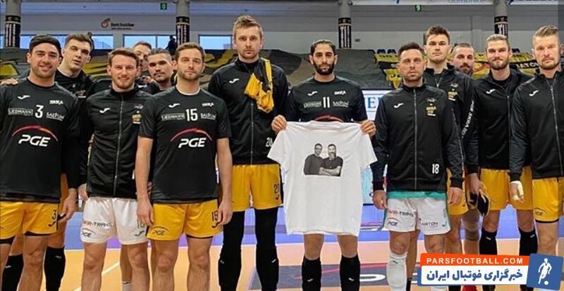 میلاد عبادیپور ملیپوش و لژیونر والیبال ایران یاد و خاطره علی انصاریان و مهرداد میناوند را در مسابقه تیم اسکرا در لیگ اروپا گرامی داشت.