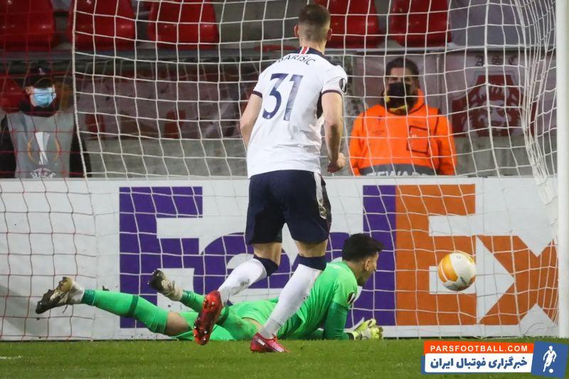 باریسیچ  در بازی پنجشنبه شب از روی پنالتی دو بار دروازه آنتورپ را باز کرد که یکی از آنها زمانی بود که بیرانوند در میدان حضور داشت.