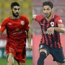 تقابل علی کریمی و شجاع خلیل زاده در لیگ ستارگان قطر